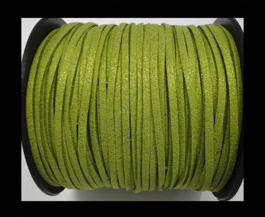 Suede cord - 3mm - Glitter Light Green