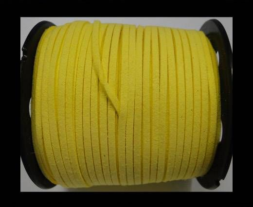 Suede cord - 3mm - Light Yellow