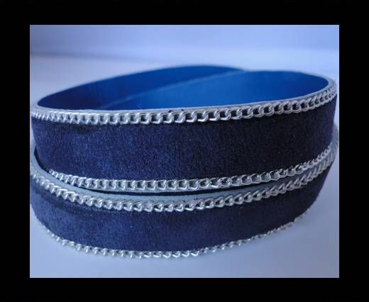 Suede Leather - Blue