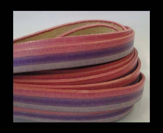 Vintage Style Flat Leather - 10mm-Pink-purple-violet-Sting Ray