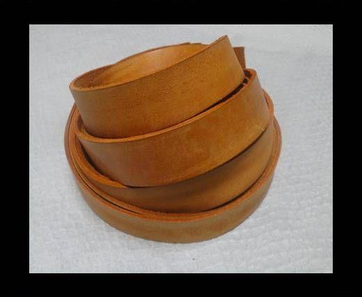 Vintage Style Flat Leather - 20mm-Vintage Tan