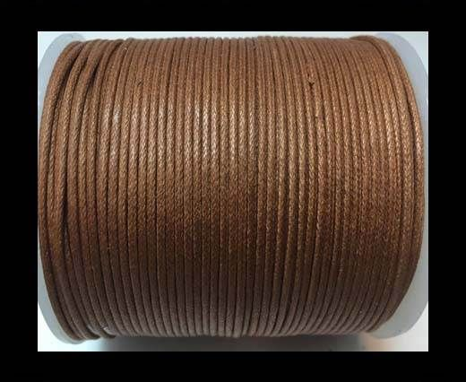 Wax Cotton Cords - 1mm - Light Brown