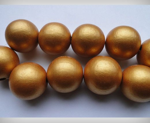 Wooden Beads-25mm-Dark Gold