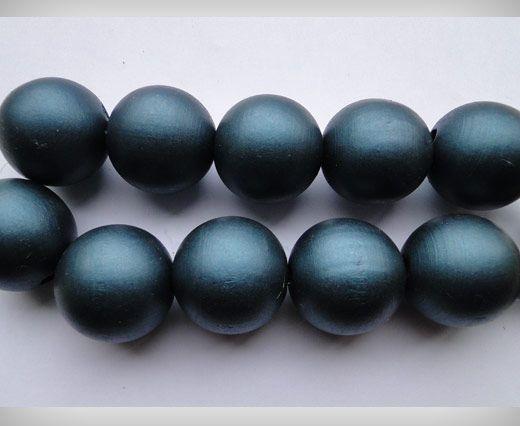 Wooden Beads-30mm-Metalic Dark Blue