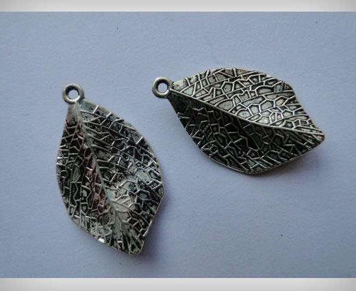 Zamac Silver Plated Beads CA-3006