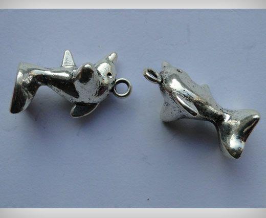 Zamac Silver Plated Beads CA-3011
