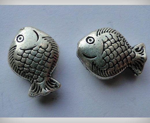 Zamac Silver Plated Beads CA-3014