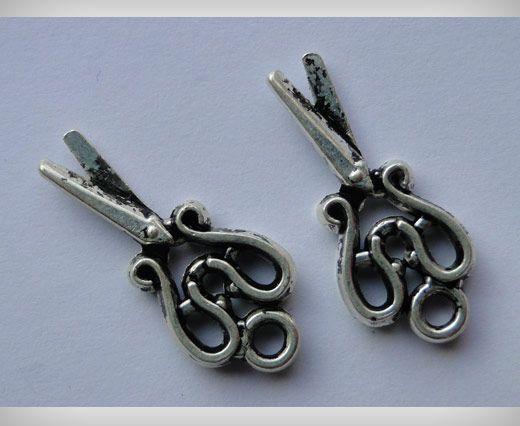 Zamac Silver Plated Beads CA-3022