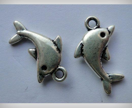 Zamac Silver Plated Beads CA-3025