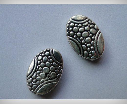 Zamac Silver Plated Beads CA-3027