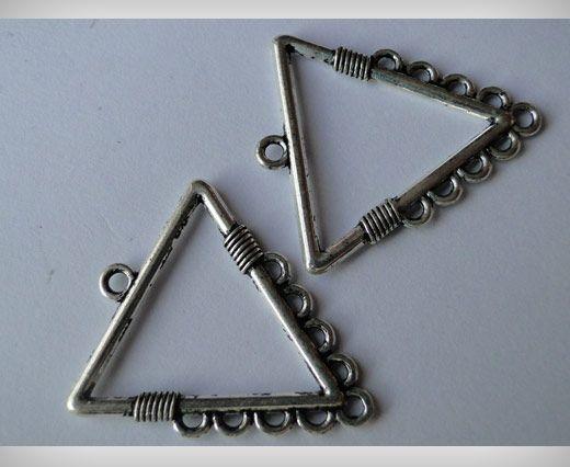 Zamac Silver Plated Beads CA-3032