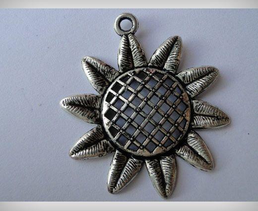 Zamac Silver Plated Beads CA-3034