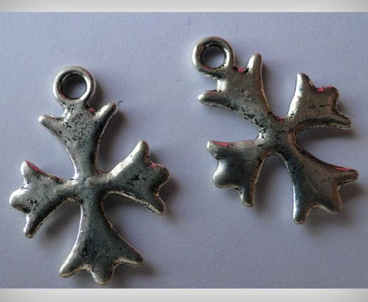 Zamac Silver Plated Beads CA-3036