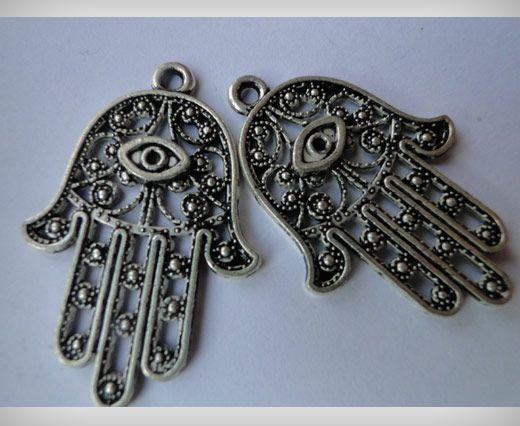 Zamac Silver Plated Beads CA-3042