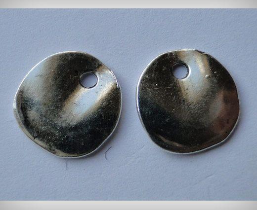 Zamac Silver Plated Beads CA-3058