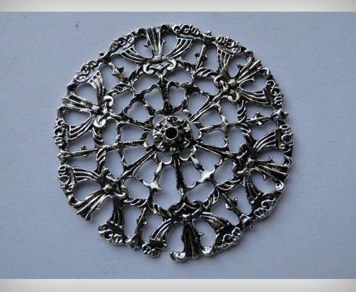 Zamac Silver Plated Beads CA-3065