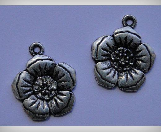 Zamac Silver Plated Beads CA-3072