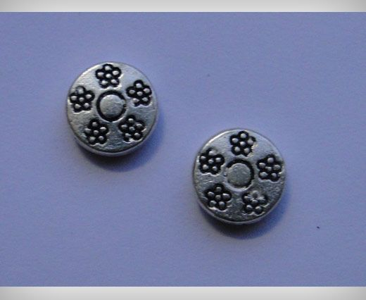 Zamac Silver Plated Beads CA-3074