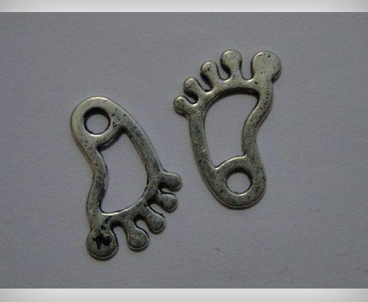Zamac Silver Plated Beads CA-3094