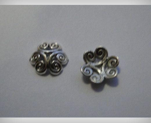 Zamac Silver Plated Beads
