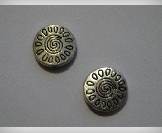 Zamac Silver Plated Beads CA-3103
