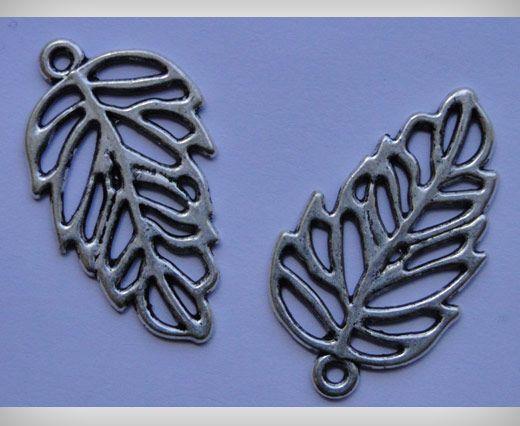 Zamac Silver Plated Beads CA-3109