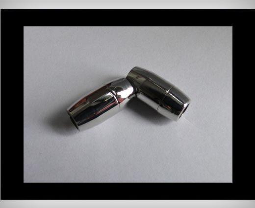 Edelstahl Magnetverschluss-MGST-03-6mm-Silber