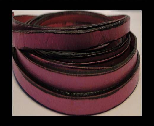 Flaches Italienisches Leder-Pink