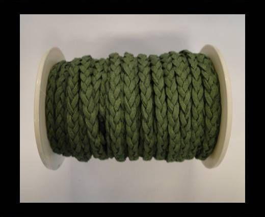 Geflochtene Wildleder-Kordeln-5mm-Grün