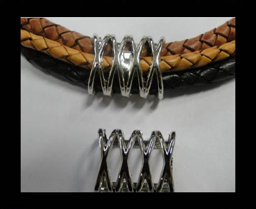 CA-4664-Steel Colour -Zamac parts for leather