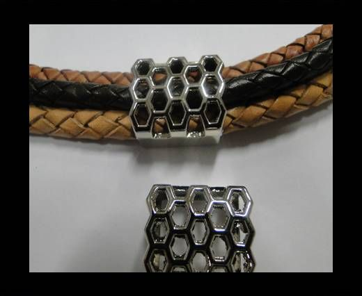 CA-4666-Steel Colour-Zamac parts for leather