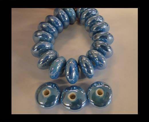 CB-Flat Round - Turquoise AB