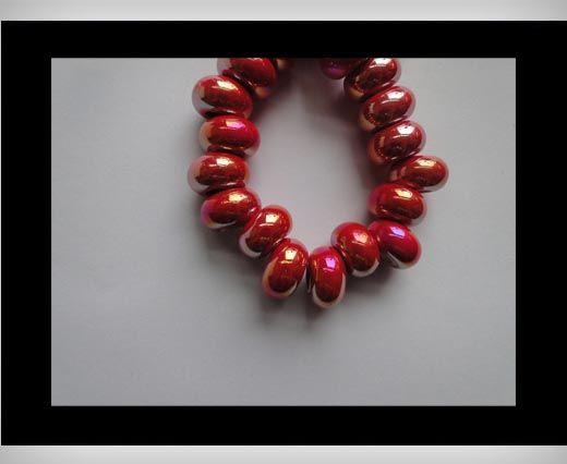 Ceramic Beads -RED-AB