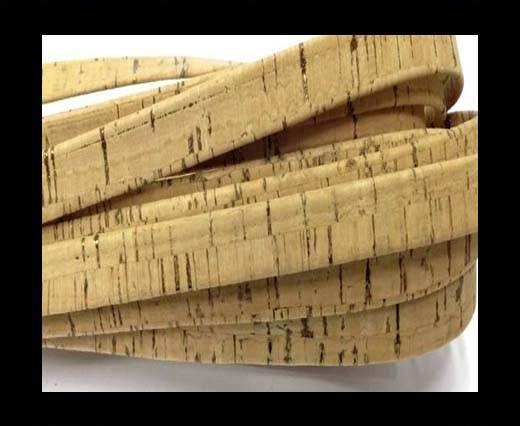 Cork Flat-10mm-Flat Natural+Copper