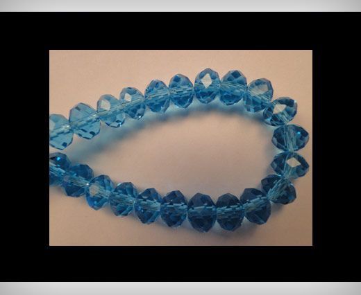 Faceted Glass Beads-8mm-Turquoise