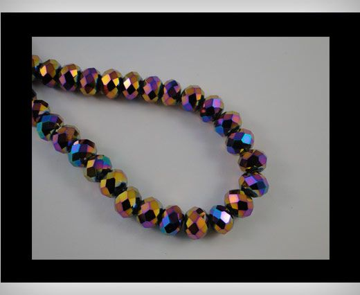 Faceted Glass Beads-8mm-Median Blue