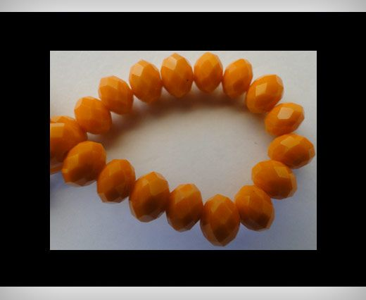Faceted Glass Beads-18mm-Fire-Opal