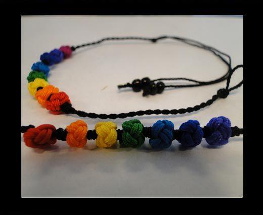 Fancy Cord Bracelet -FJ02-Black Base
