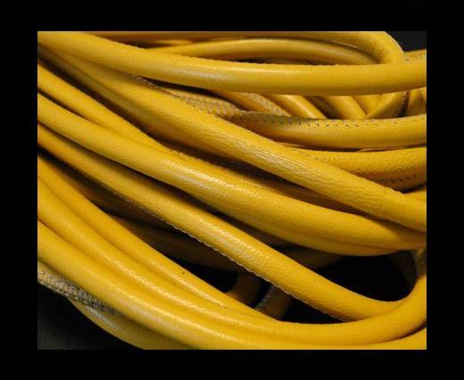Round stitched nappa leather cord Yellow-4mm