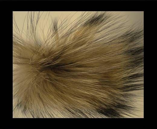 Finn Raccoon Pom Pom-Natural-14cms
