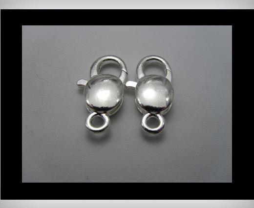 Kupfer Hakenverschluss FI-7003-Silber-30mm