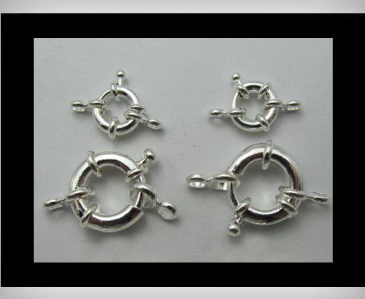 Kupfer Hakenverschluss FI-7007-Silber-17mm