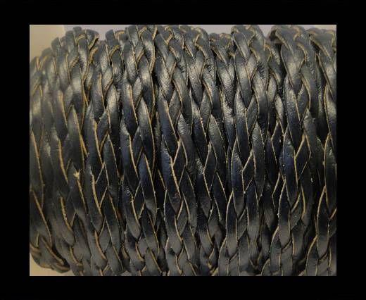 Flach geflochtene Kordeln-Style-3-10mm-Dunkelblau