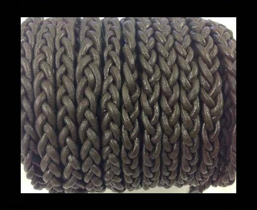 Flat Braided Cords - 3by2 -5mm  - dark brown