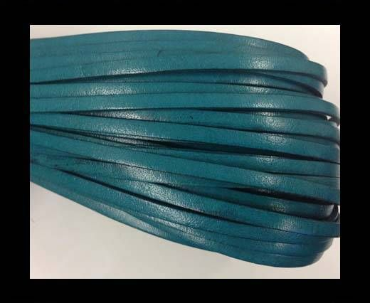 Flat leather  - 4 mm - turquoise