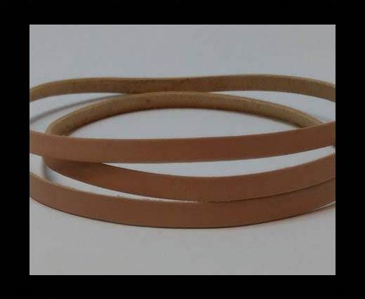 Flat Leather Cords - Cow -width 4mm-27409 - Light Pink
