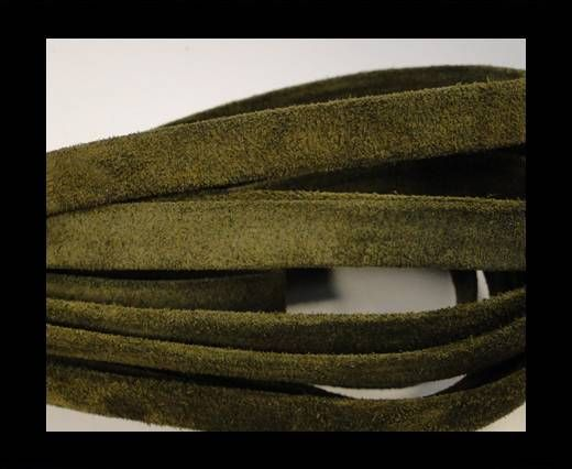 Flat Suede Leather-10mm-Green