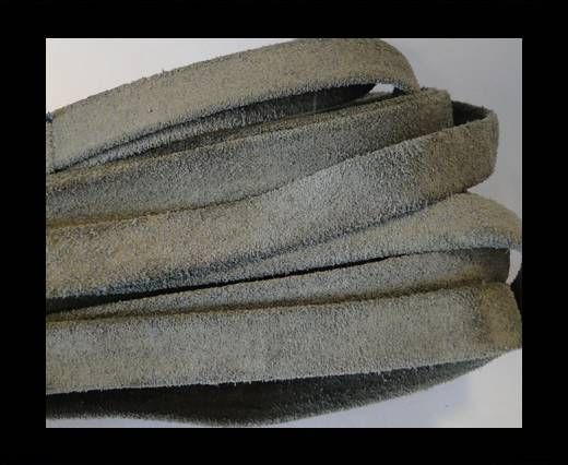Flat Suede Leather-10mm-Grey