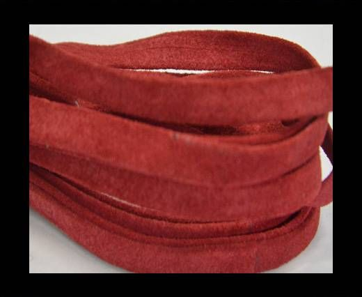 Flat Suede Leather-10mm-Red