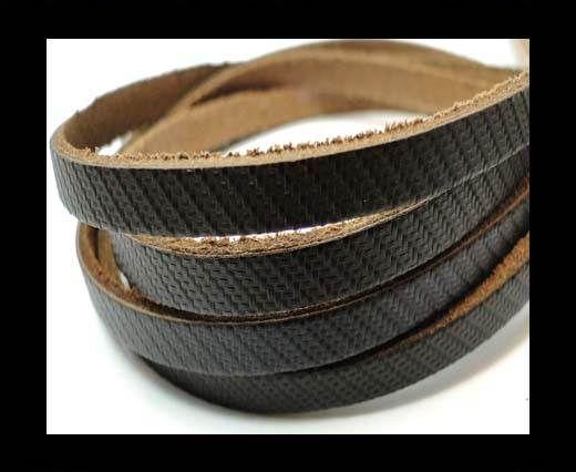 Flat Vintage Leather - 5mm -  spl 4 black